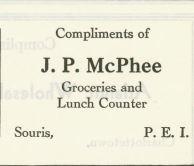 J. P McPhee IGA Ad