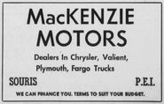 MacKenzie Motors Ad 1963