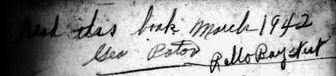 George Paton Signature 1942 Rollo Bay West