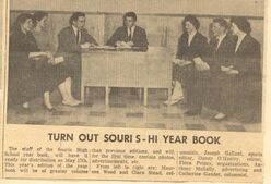 1957 Yearbook Staff