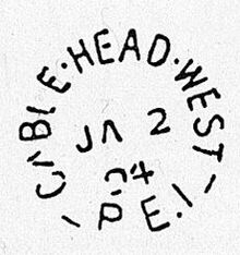 Cable Head West Postmark