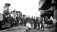Souris Train Station 1895