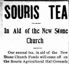 Souris Tea Stone Church 1902