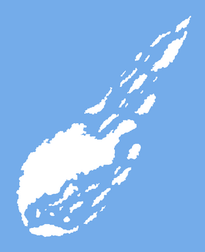 Map of the Southern Arc Islands