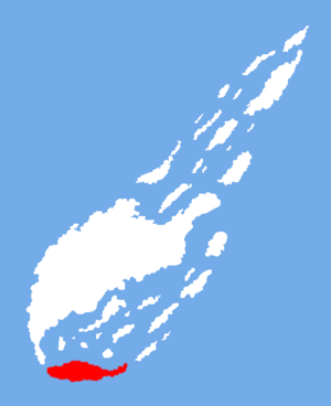 Location of Arc Island