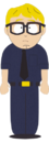 Blond Haired Security Guard