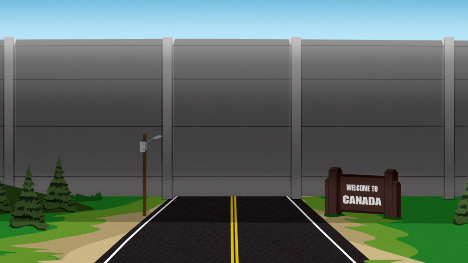 Картинки по запросу стена канада южный парк