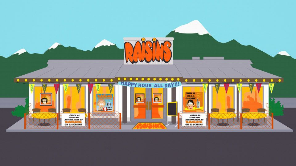 Raisins (Location) | South Park Archives | FANDOM powered