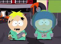克雷格与巴特斯在加油站