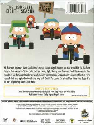 South Park The Complete Eighth Season - Back Cover