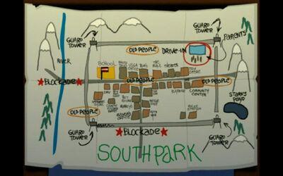Plan dessiné de south Park