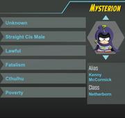 Mysterion ref sheet