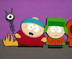 Unaired cartman gets an anal probe