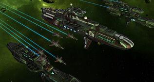 Ancient soviet ships attack