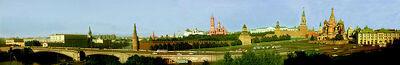 Panorama du Kremlin vu du Rossia (retouched)