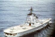Moskva class Moskva flightdeck cruiser, starboard quarter view