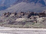 Afghan village destroyed by the Soviets