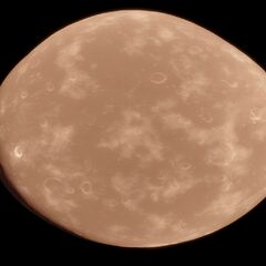 Whana, Eraka's largest dwarf moon from space.