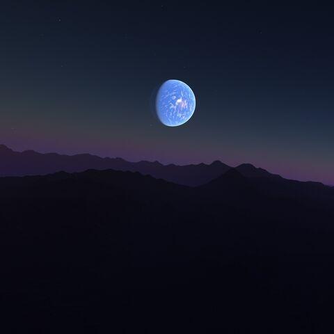 Planet vom Mond aus gesehen