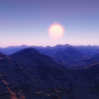 Arcturus as seen in the sky of its fifth planet.
