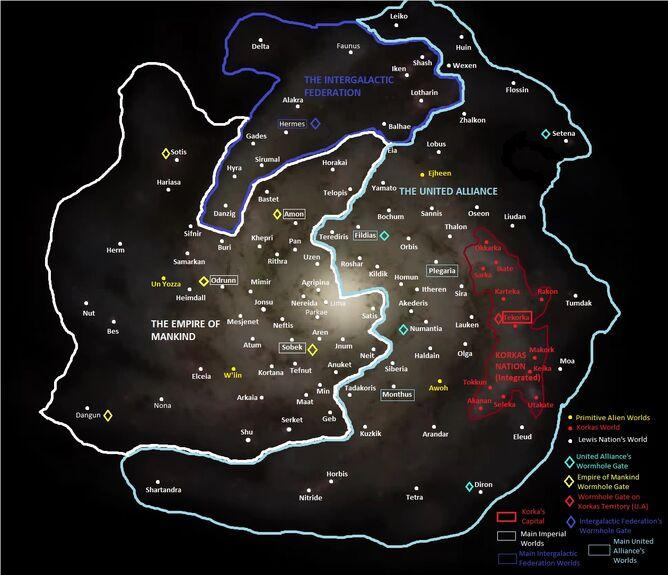Elcano Galaxy Nation Blank Planets