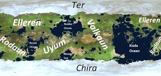 Map of Kalmar Continents names