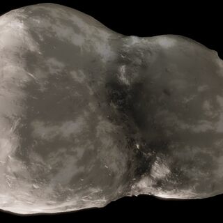 Hyacinthum's third smallest and closest dwarf moon, Anni, from space.