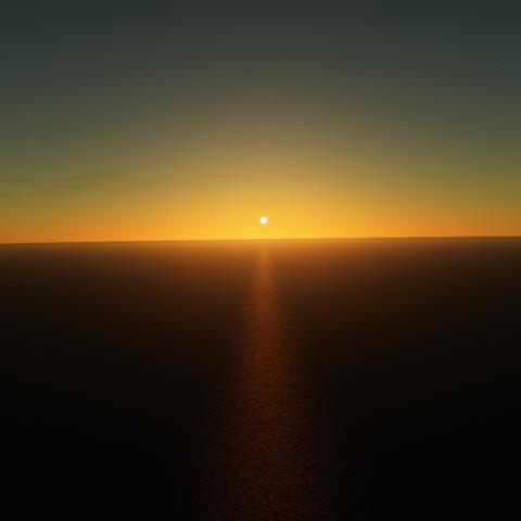 Sonnenuntergang auf der Erde