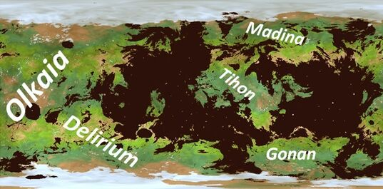 Map of Alma Continents