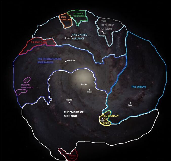 Lewis Galaxy Nation and Capitals map-0