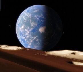 Eyen as seen from the Moon of Krissan