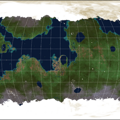 Robinson Projection of Amana's Surface