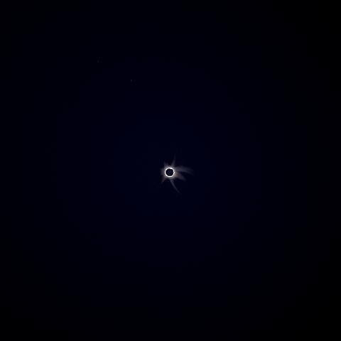 Sonnenfinsternis von der Erde aus
