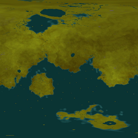 Map of Terrenda's surface.