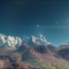 A mountain range on Amana