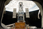 Hubble docked in the cargo bay