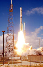 Atlas V 551 roars into blue sky