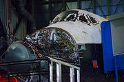 220px-Atlantis Sitting in the Vehicle Assembly Building prepared for decomission-1-