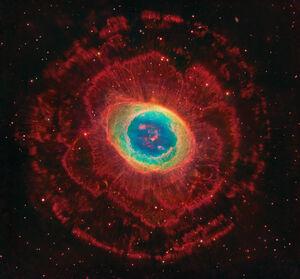 Ring Nebula HSTxSubaru
