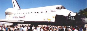 Atlantis rollout ceremony