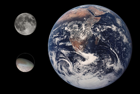 Triton Earth Moon Comparison