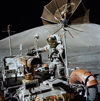 Apollo 17- Lunar Roving Vehicle and Eugene Cernan