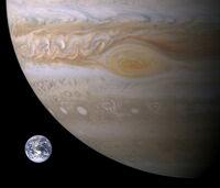 Jupiter-Earth-Spot comparison