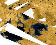 PIA10008 Seas and Lakes on Titan