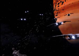 Battle in the Trojan Asteroids