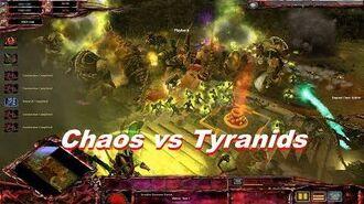 Chaos Daemons vs Tyranids! - Warhammer 40k Dawn Of War Soulstorm - Ultimate Apocalypse Mod