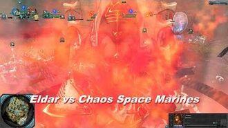 Eldar vs Chaos Space Marines - Warhammer 40k Dawn Of War 2 Retribution - SupaEpicFun Mod