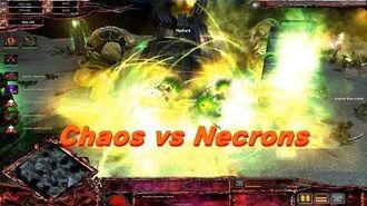 Chaos Daemons vs Necrons! - Warhammer 40k Dawn Of War Soulstorm - Ultimate Apocalypse Mod