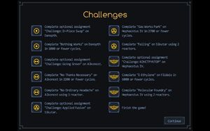 Challenges screen