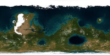 Mars terraformed map
